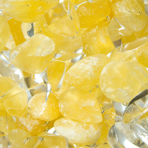 Yellow and clear gemstones.